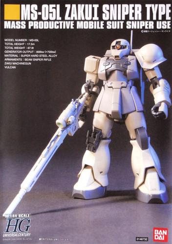 Bandai HGUC 071 Gundam MS-05L ZAKU I SNIPER TYPE 1/144 Scale Kit