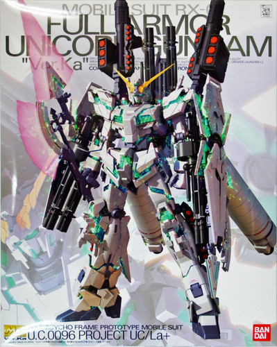 Bandai MG 728180 Gundam RX-0 Full Armor Unicorn Gundam VersionKa 1/100 Scale Kit