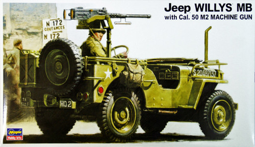 Hasegawa MV2 U.S. JEEP WILLYS MB with Cal.50 M2 Machine Gun 1/24 Scale Kit