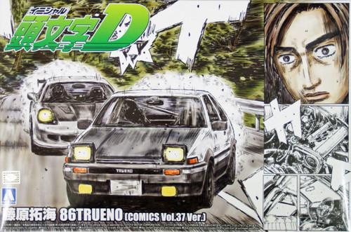 Aoshima 04678 Initial D T.Fujiwara 86 Trueno (Comics Vol.37 Version) 1/24 Scale Kit