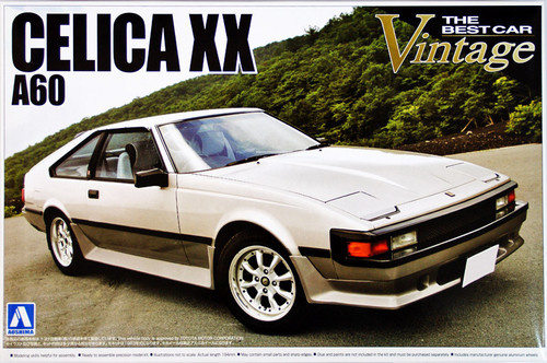 Aoshima 50002 Toyota Celica XX (A60) 1/24 Scale Kit