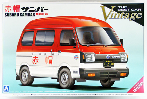 Aoshima 04685 Subaru Sambar Post Office Car 1/24 scale kit
