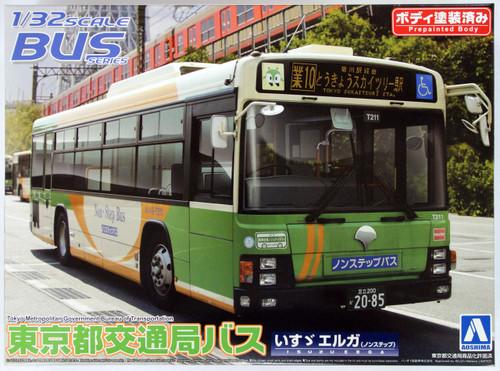 Aoshima 05576 Isuzu Erga Tokyo Metropolitan City Bus 1/32 Scale Kit