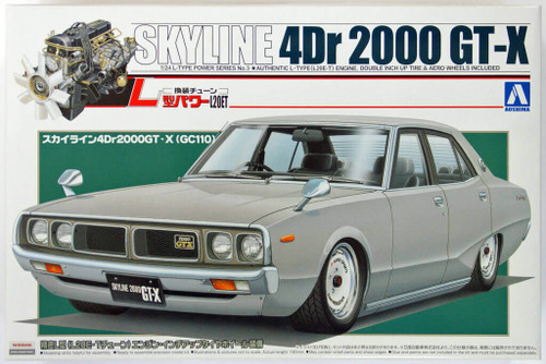 Aoshima 06870 Nissan Skyline 4Dr 2000 GT-X (GC110) 1/24 Scale Kit