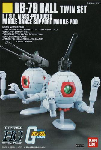 Bandai HGUC 114 Gundam RB-79 Ball TWIN SET 1/144 Scale Kit