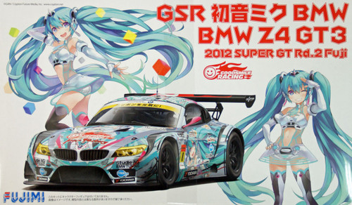 Fujimi 189901 BMW Z4 GT3 Hatsune Miku 2012 Super GT Rd.2 Fuji 1/24 Scale Kit