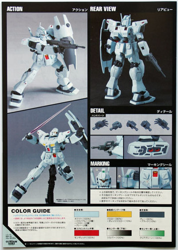 Bandai HGUC 120 Gundam RGM-79N GM CUSTOM 1/144 Scale Kit