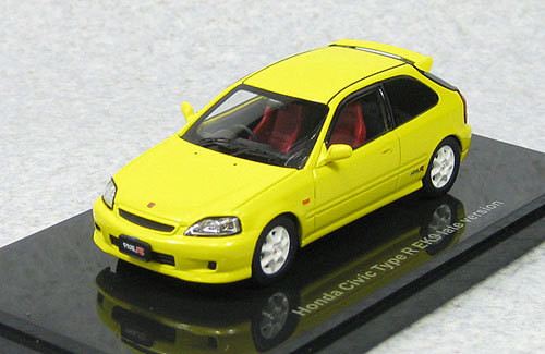 Ebbro 44612 Honda Civic Type-R EK9 1998 Late Version (Yellow) 1/43 Scale