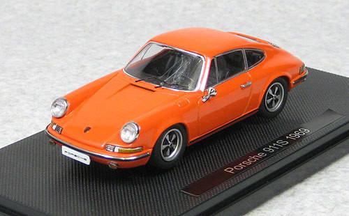 Ebbro 44796 Porsche 911S 1969 Orange 1/43 Scale