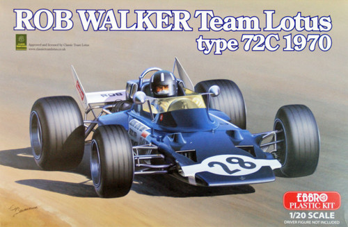 Ebbro 20002 Rob Walker Team Lotus type 72C (1970) 1/20 Scale plastic model Kit