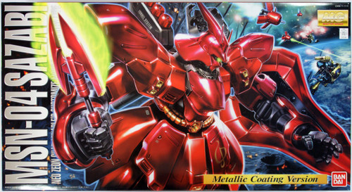 Bandai MG 522467 Gundam MSN-04 Sazabi (Metallic Coating Version) 1/100 Scale Kit