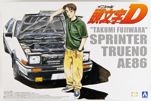 Aoshima 03206 Initial D T.Fujiwara 86 Trueno (Comics Vol.1 Version) 1/24 Scale Kit