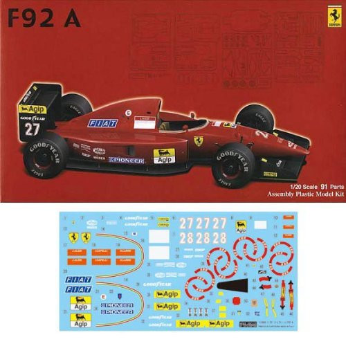 Fujimi GP SP15 F1 Ferrari F92A 1992 with Decal and Etching parts 1/20 Scale Kit