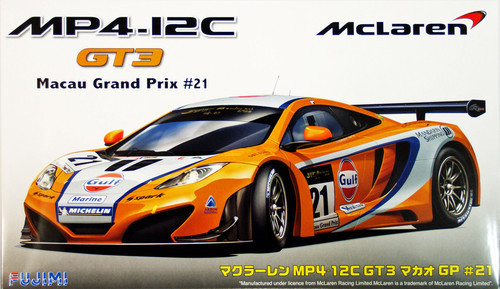 Fujimi RS-41 McLaren MP4-12C GT3 Macau Grand Prix #21 Gulf Marine 1/24 Scale Kit 125633