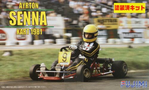 Fujimi KART-SP 091518 Ayrton Senna Kart 1981 (Pre-painted Parts) 1/20 Scale Kit