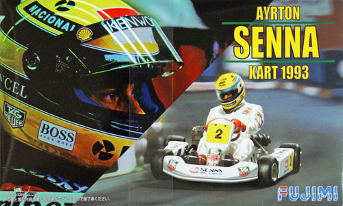Fujimi KART-SP 091525 Ayrton Senna Kart 1993 (Pre-painted Parts) 1/20 Scale Kit