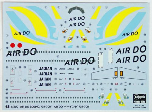Hasegawa 42 Boeing 737-700 AIR DO 1/200 Scale Kit