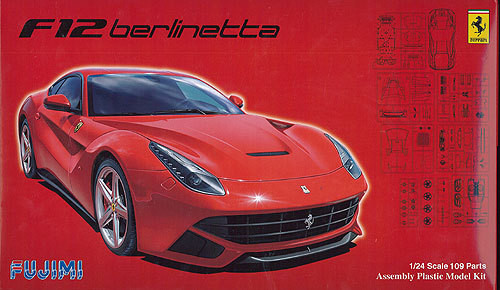 Fujimi RS-SPOT 125664 Ferrari F12 Berlinetta DX with Photo Etched Parts 1/24 Kit