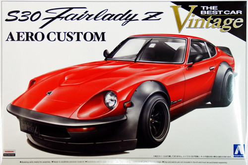 Aoshima 07433 Nissan Fairlady Z (S30) Aero Custom 1/24 Scale Kit