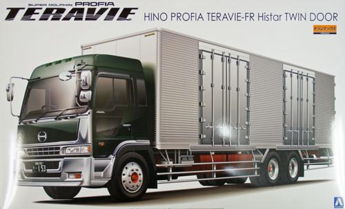 Aoshima 07778 Hino Profia Teravie-FR Histar Twin Door Truck 1/32 Scale Kit