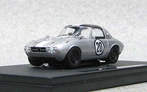 Ebbro 44621 Toyota Sports 800 Funabashi CCC 1965 #20 (Silver) 1/43 Scale