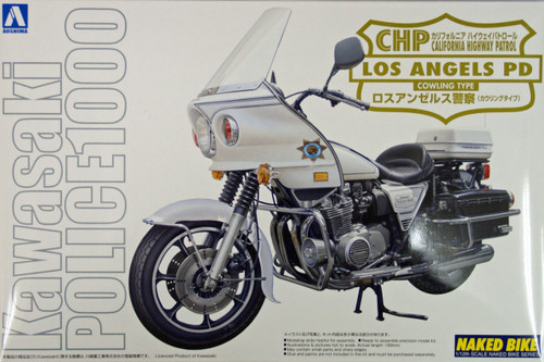 Aoshima Naked Bike 112 Kawasaki Los Angeles Police 1000 Cowling 1/12 Scale Kit