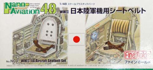 Fine Molds NC3 WW2 IJA Aircraft Seatbelt Set 1/48 Scale Kit