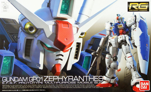 Bandai RG 12 RX-78GP01 Prototype Gundam GP01 Zephyranthes 1/144 Scale Kit