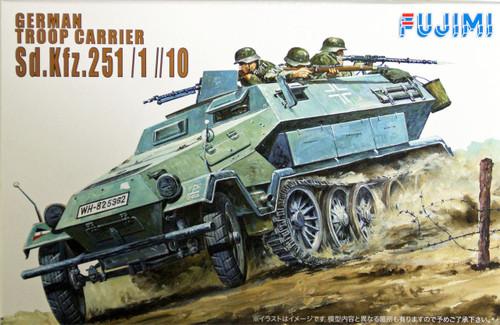 Fujimi WA06 World Armor German Troop Carrier Sd. Kfz. 251/1//10 1/76 Scale Kit