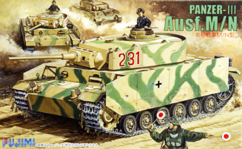 Fujimi SWA11 Special World Armor Panzer-III Ausf.M/N 1/76 Scale Kit