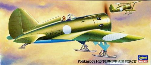Hasegawa 00926 Polikarpov I-16 Finnish Air Force 1/72 Scale Kit