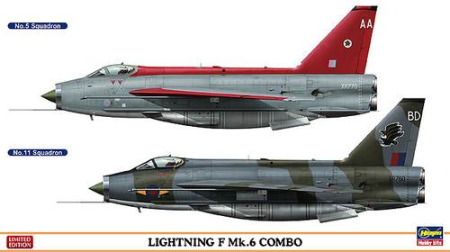 Hasegawa 01982 Lightning F Mk.6 Combo (2 planes set) 1/72 Scale Kit
