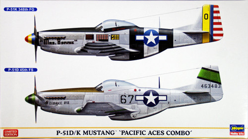 Hasegawa 02020 P-51D/K Mustang Pacific Aces Combo (2 plane set) 1/72 Scale Kit