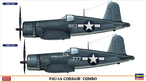 Hasegawa 02032 US Navy F4U-1A Corsair Combo (2 plane set) 1/72 Scale Kit