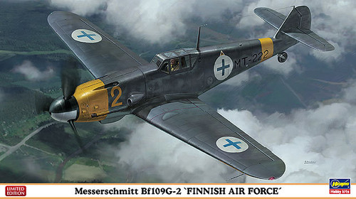 Hasegawa 07329 Messerschmitt Bf109G-2 Finnish Air Force 1/48 Scale Kit