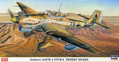 Hasegawa 07337 Luftwaffe Junkers Ju87R-2 Stuka Desert Snake 1/48 Scale Kit