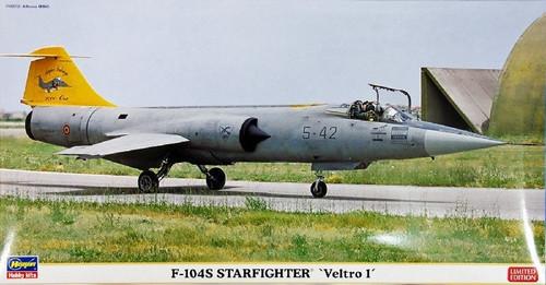 Hasegawa 07340 Italian Air Force F-104S Starfighter Veltro 1 1/48 Scale Kit