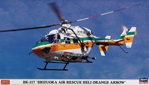 Hasegawa 08231 BK-117 Helicopter Shizuoka Air Rescue 1/32 Scale Kit