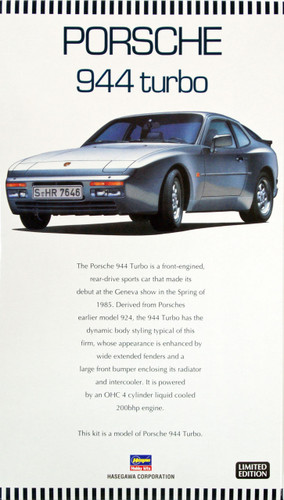 Hasegawa 20260 Porsche 944 Turbo 1/24 Scale Kit (Limited Edition)
