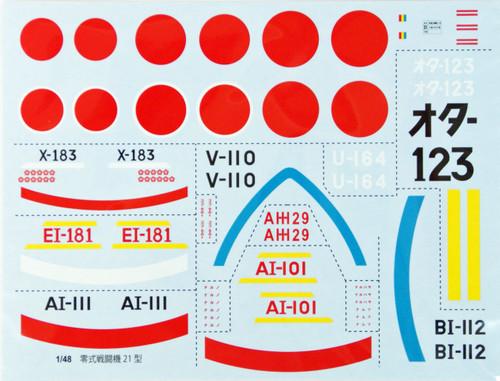 Fujimi 311098 JB-01 Mitsubishi Zero Fighter Model 21 1/48 Scale Kit