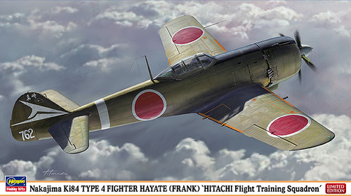Hasegawa 07357 Nakajima Ki84 Type 4 Fighter Hayate (Frank) Hitachi Flight Training Squadron 1/48 Scale Kit