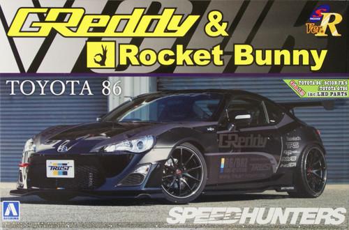 Aoshima 07631 TOYOTA 86 2012 Greddy&Rocket Bunny Volk Racing Version 1/24 Scale Kit