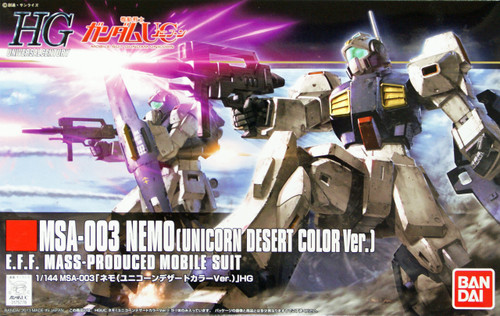 Bandai HGUC 164 Gundam MSA-003 NEMO (UNICORN DESERT COLOR Version) 1/144 Scale Kit