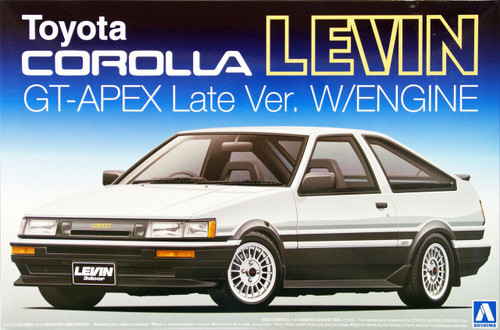 Aoshima 09420 Toyota AE86 Corolla Levin GT-APEX Late Version with Engine 1/24 Scale Kit