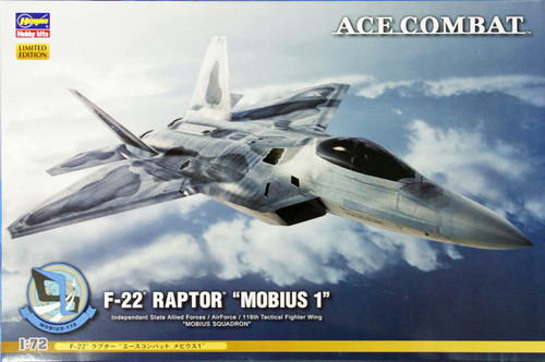 Hasegawa SP311 Ace Combat F-22 Raptor Mobius 1 1/72 Scale Kit