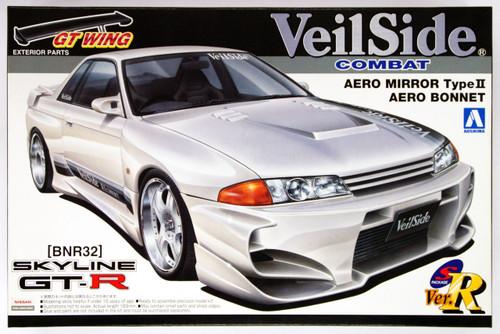 Aoshima 10167 Nissan Skyline GT-R VeilSide R32 Combat Aero Mirror Type II Aero Bonnet 1/24 Scale Kit