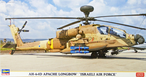 Hasegawa 07365 AH-64D Apache Longbow Israeli Air Force 1/48 Scale Kit