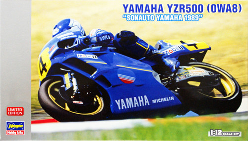 Hasegawa 21709 Yamaha YZR500 (OWA8) Sonauto Yamaha 1989 1/12 Scale Kit (Limited Edition)