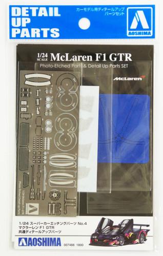 Aoshima 07488 McLaren F1 GTR 1997 Pre-season Testing Long Tail Photo Etched Parts 1/24 Scale