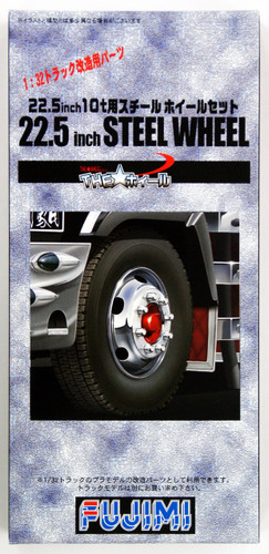 Fujimi TW72 Steel Wheel & Tire Set 22.5 inch 1/32 Scale Kit